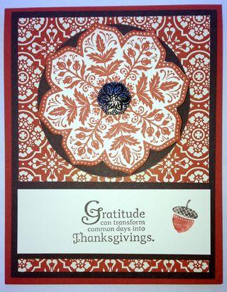 Stampin' Up Thanksgiving Card